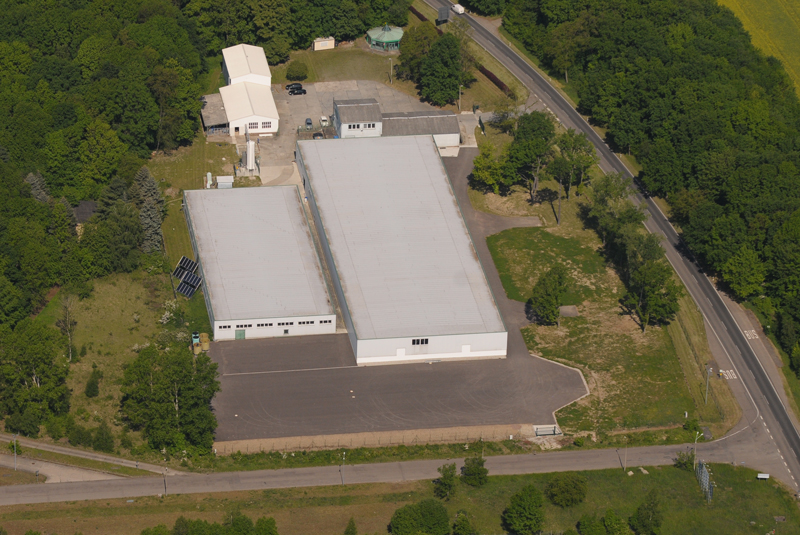 Das 10.000 Quadrameter große Betriebsgelände der Eco ice GmbH bei Borna