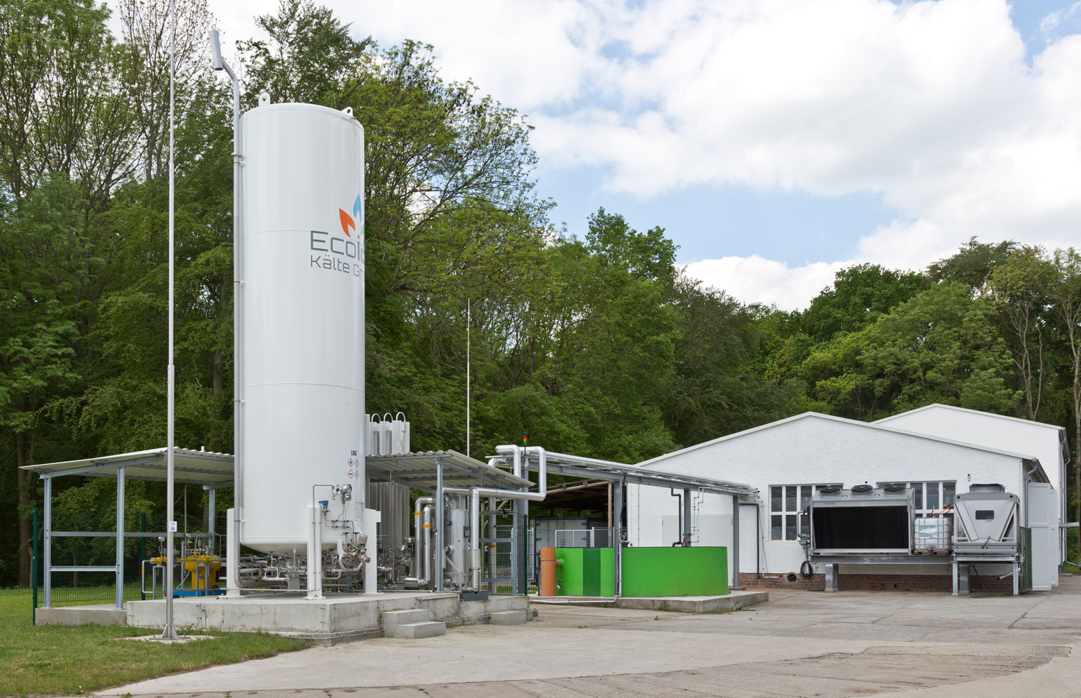 System for regasification on the Eco ice Kälte GmbH premises